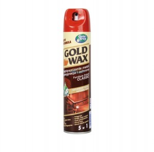 PREPARAT DO PIELĘG MEBLI GOLD WAX SPRAY 250 ml